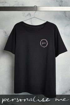 Personalised Embroidery Slogan T-Shirt
