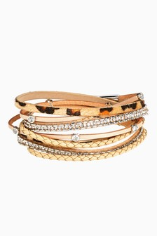 Animal Print Multi-Layer Wrap Bracelet