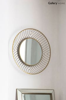 Paxton Gold Round Mirror by Gallery Direct