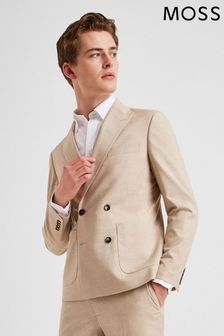 Moss London Slim Fit Late Double Breasted Lightweight Jacket