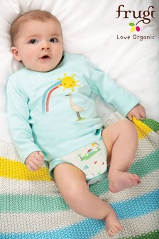 Frugi GOTS Organic Bodysuit with Sunshine and Stork Design