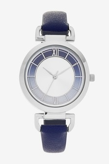 Navy Looped Shoulder Watch
