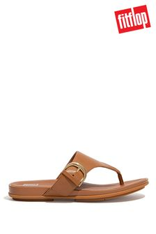FitFlop Tan Graccie Buckle Toe Post Sandals