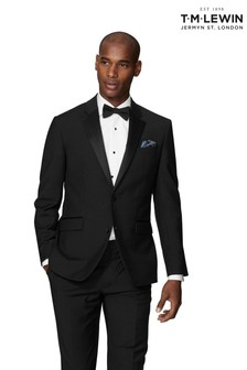 T.M. Lewin Lancewood Black Dinner Slim Fit Jacket