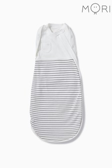 MORI White Newborn Swaddle Bag