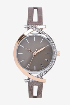 Metallic Split Strap Watch