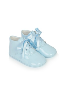 Andanines Baby Boys Blue Leather Shoes