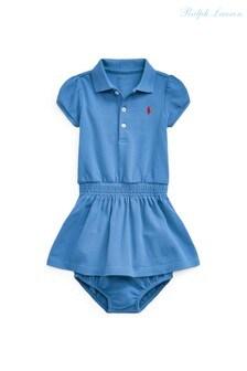 Ralph Lauren Blue Polo Dress