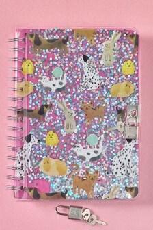 Animal Secret Lock Notebook
