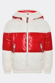 Girls White Galene Jacket