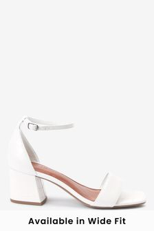 White Regular/Wide Fit Forever Comfort® Simple Block Heel Sandals