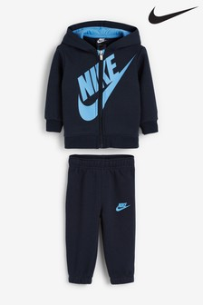 Nike Infant Navy/Blue Overhead Hoody And Jogger Set