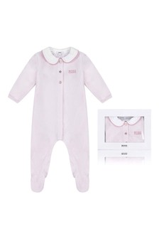 Girls Velour Babygrow