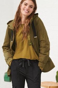 Khaki Lightweight Padded Jacket
