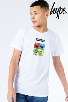 Hype. x Sesame Street White Character Grid Logo Kids T-Shirt
