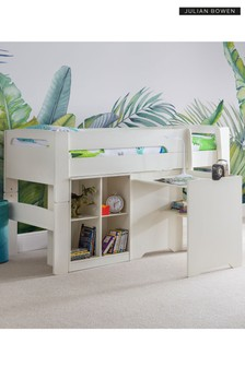 Pluto White Bookcase by Julian Bowen