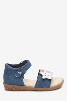 Denim Rainbow Star Sandals (Younger)