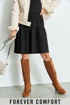 Tan Forever Comfort® Slouch Knee High Boots