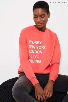 Mint Velvet Pink Cities Sweatshirt