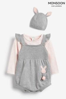 Monsoon Newborn Baby Callie Knitted Romper Set