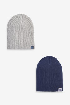 Navy/Grey 2 Pack Beanies (Younger)