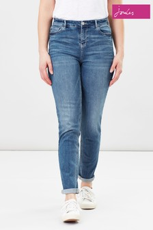 Joules Blue Simone High Rise Girlfriend Jeans