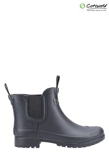 Cotswold Black Blenheim Wellington Boots