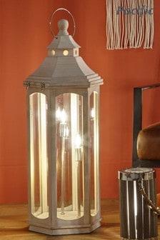 Pacific White Adaline Lantern Floor Lamp