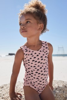 Pink Half Spot Swimsuit (3mths-12yrs)