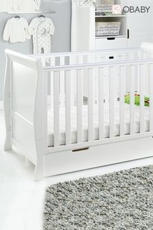 Obaby Stamford Classic White Cot Bed