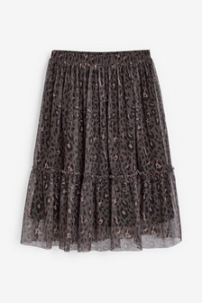 Animal Tulle Midi Skirt (3-16yrs)