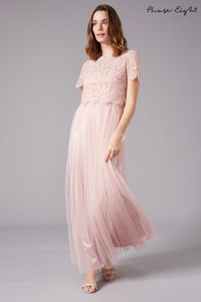 Phase Eight Pink Kiera Lace Tulle Maxi Dress
