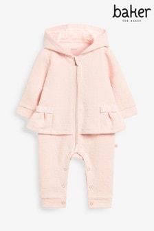 Baker by Ted Baker Baby Girl Pink Snuggle Romper