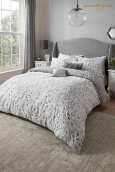 Sam Faiers Silver Delilah Animal Print Cotton Duvet Cover and Pillowcase Set