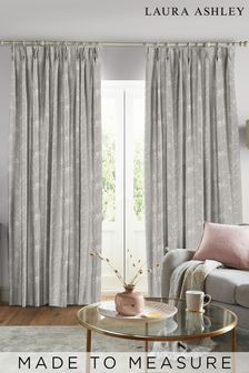 Laura Ashley Steel Pussy Willow Made to Measure Curtains