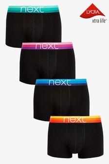Black Rainbow Waistband Hipsters Four Pack