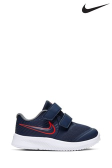 Nike Run Navy/Pink Star Runner Infant Trainers