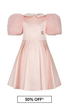 ELIE SAAB Girls Pink Silk Dress