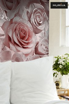 Madison Glitter Floral Wallpaper by Muriva
