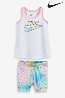 Nike Infant White Bubble Print Set