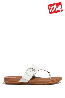 FitFlop White Graccie Buckle Toe Post Sandals