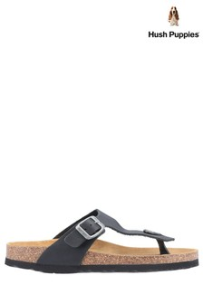 Hush Puppies Black Kayla Slip-On Sandals