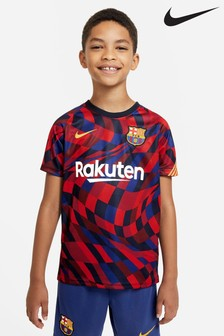 Nike Red FC Barcelona Pre Match T-Shirt