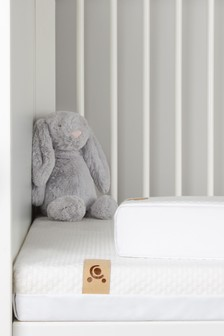 CuddleCo Lullaby Hypo Allergenic Bamboo Foam CotBed Mattress