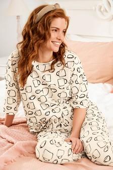 Ecru Teacups Cotton Pyjamas