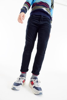 Navy Skinny Fit Cord Trousers (3-16yrs)
