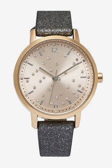 Metallic Shimmer Strap Watch