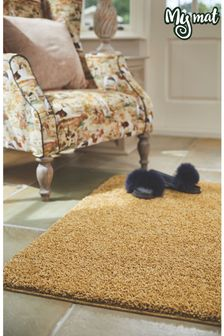 My Mat Ochre Soft Stain Resistant And Washable Rug