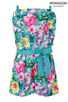 Monsoon Samia Floral Frill Playsuit