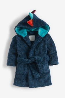 Blue Dinosaur Spike Robe (12mths-8yrs)